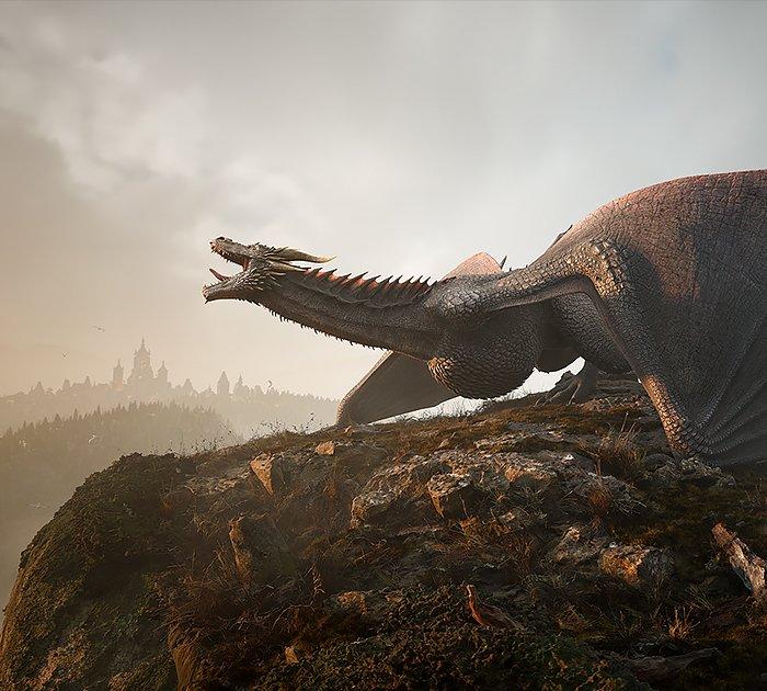 Unreal Engine – Dragon Landing